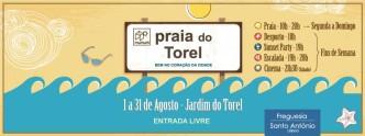 Praia do Torel Agosto 2
