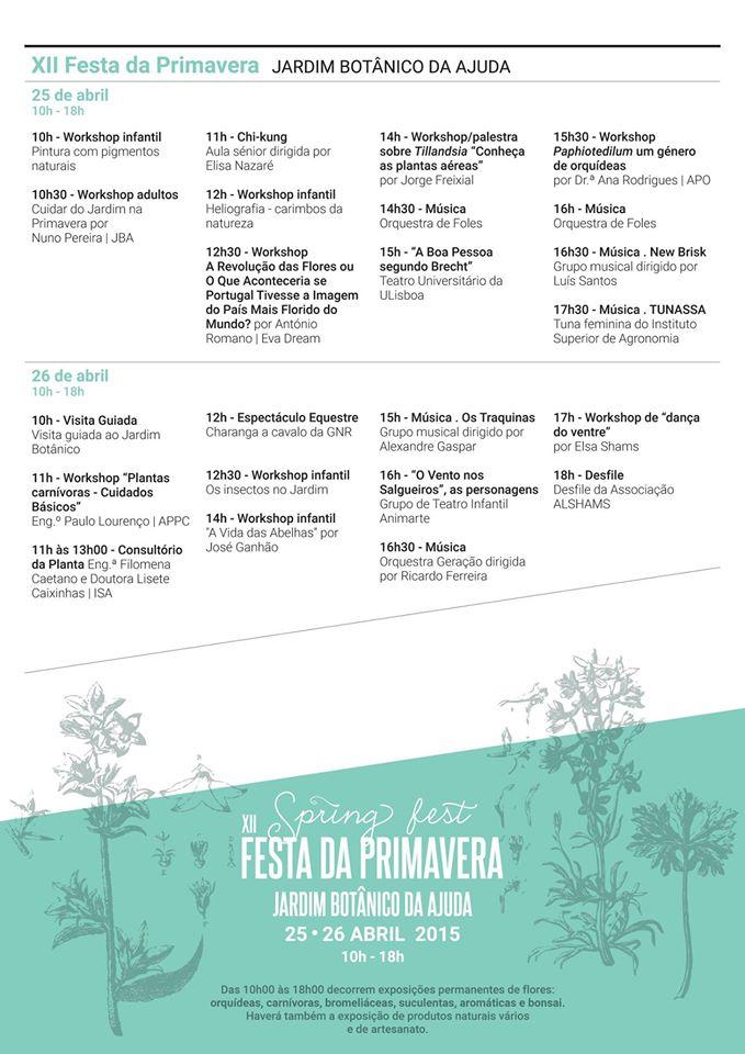 festa jardim botanico:que vais fazer este fim de semana? 24-25-26 de Abril – Eléctrico 28