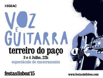 Voz e Guitarra - espectáculo de encerramento das festas de Lisboa