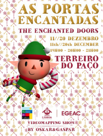 As-Portas-Encantadas-The-Enchanted-Doors-Video-Mapping-Terreiro-do-Paço