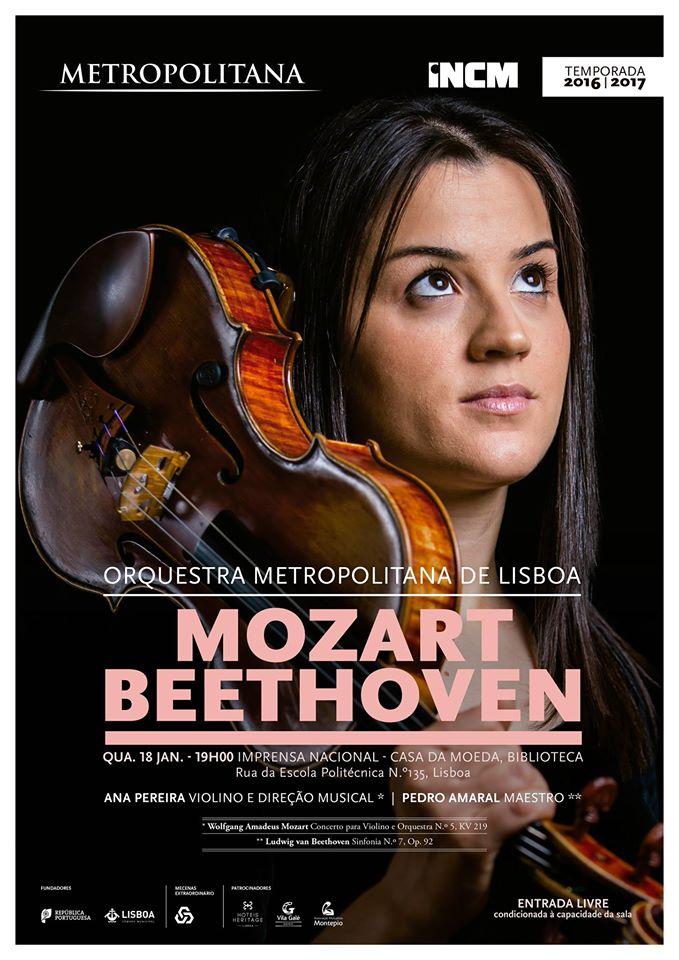 Um concerto para violino de Mozart e uma sinfonia de Beethoven numa maravilhosa interpretação da Orquestra Metropolitana de Lisboa.