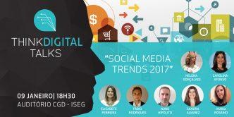 """Se queres saber tudo o que de novo se vai passar no Marketing Digital, a Palestra """"Social Media Trends 2017"""" é a tua oportunidade!"""
