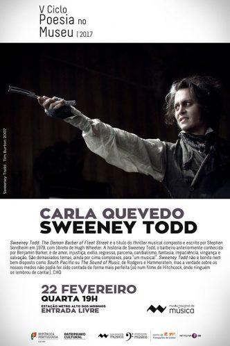 """A sessão deste mês do Ciclo Poesia no Museu, debruça-se sobre o musical Sweeney Todd. Uma história com muitos temas complexos para """"um musical""""."""