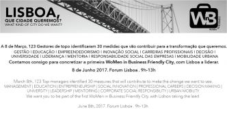 """Na Conferência """"Lisboa, que cidade queremos?"""" trazemos para a discussão pública a ideia de transformar Lisboa numa WoMen in Business Friendly City!"""