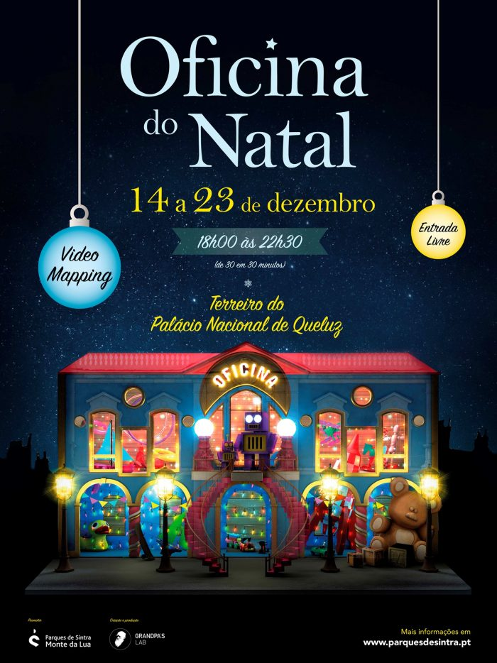 """Oficina do Natal"" o video mapping que nos vai contar as origens do Pai Natal, estará no Palácio Nacional de Queluz até dia 23 de Dezembro!"