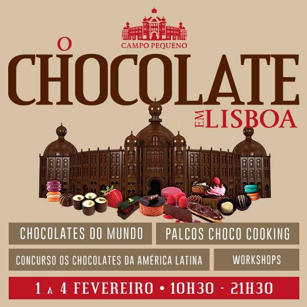 O Chocolate em Lisboa, no Campo Pequeno de 1 a 4 de Fevereiro.