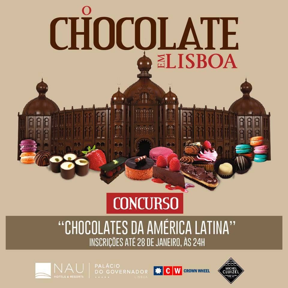 """Concurso """"Chocolates da América Latina"""" - O Chocolate em Lisboa, no Campo Pequeno de 1 a 4 de Fevereiro."""