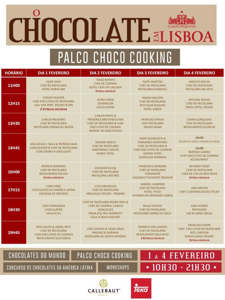 Palco Choco Cooking d' O Chocolate em Lisboa. Campo Pequeno de 1 a 4 de Fevereiro.
