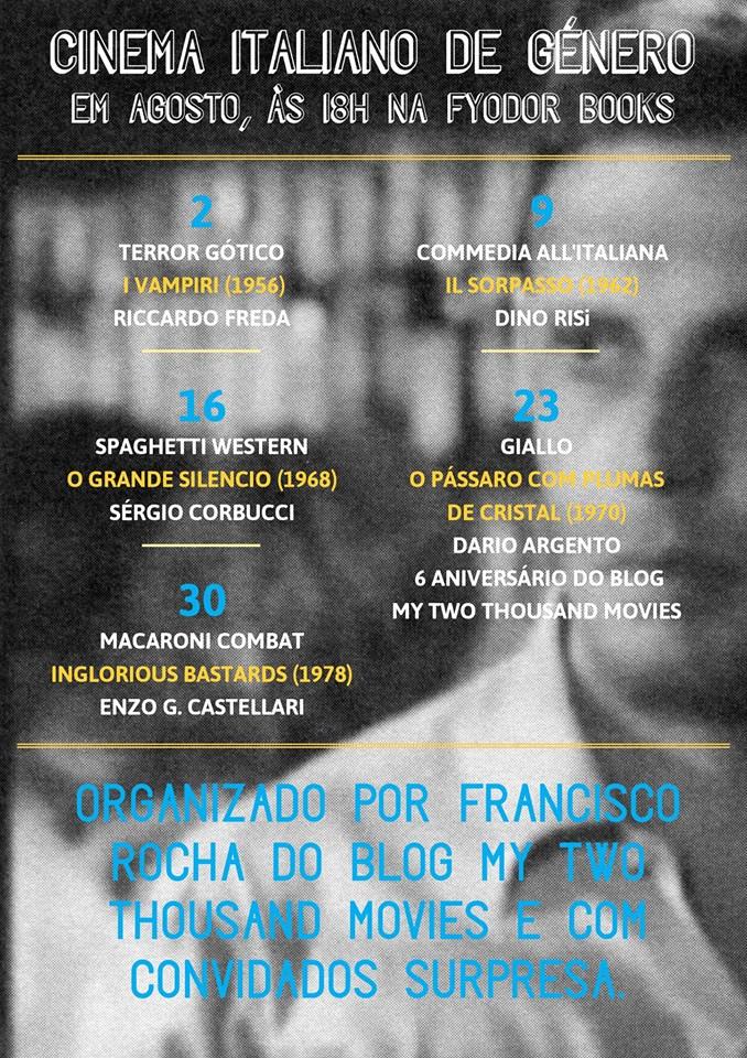Ciclo Cinema Italiano de Género Fyodor Books