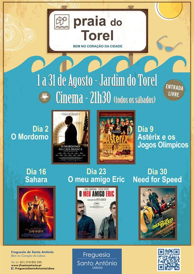 Praia do Torel Agosto Cinema