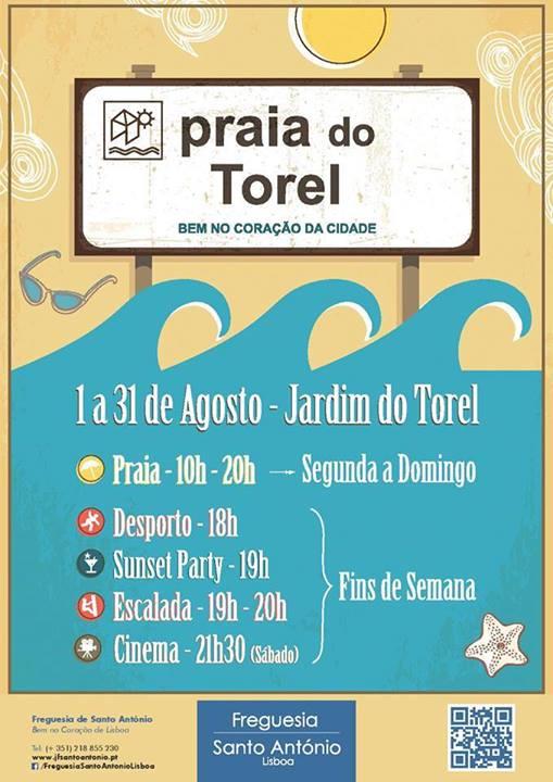 Praia do Torel Agosto