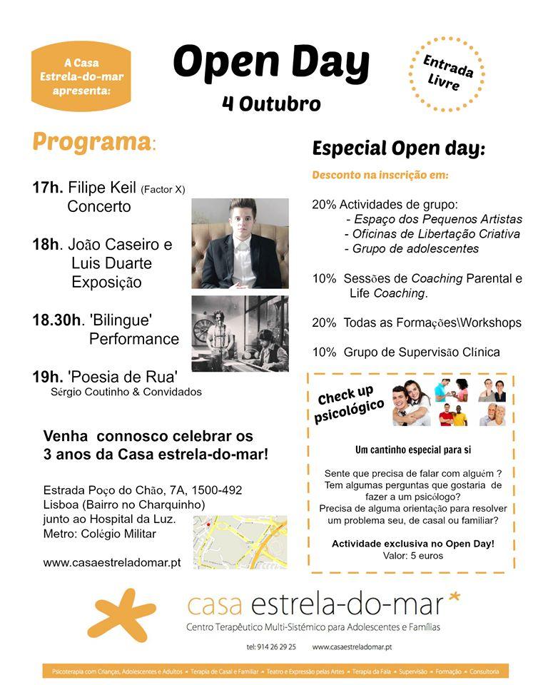 Open Day da Casa Estrela-do-mar
