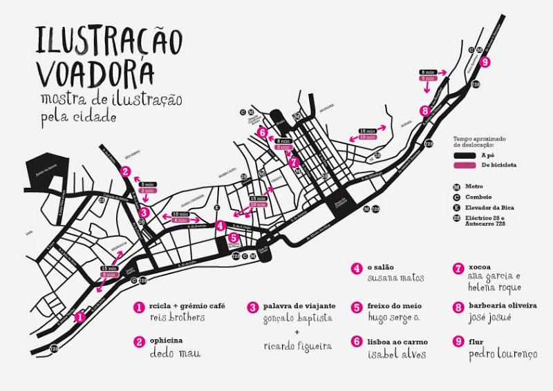 Mapa Ilustracao Voadora
