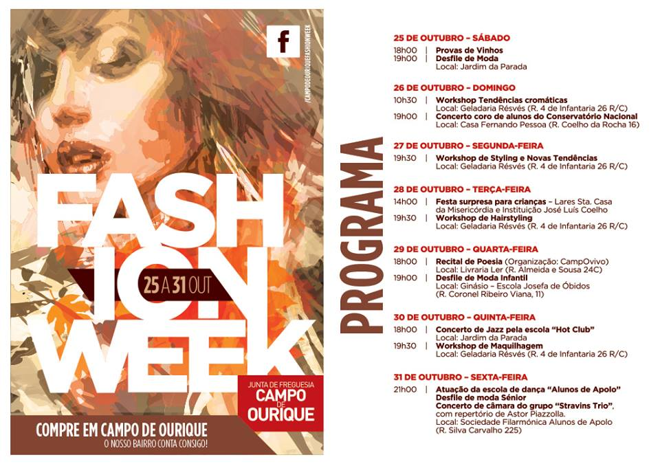 Programa Campo de Ourique Fashion Week