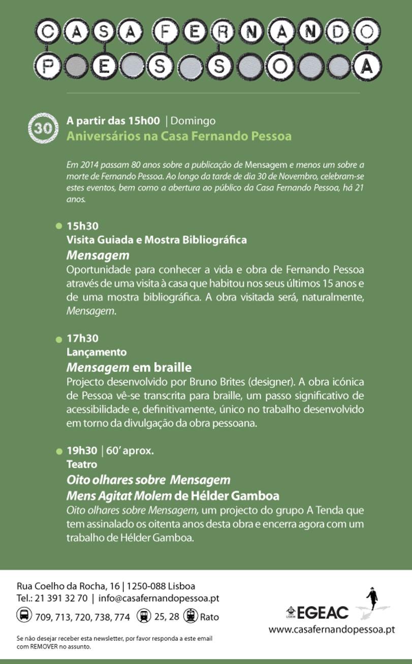 Aniversário Casa Fernando Pessoa