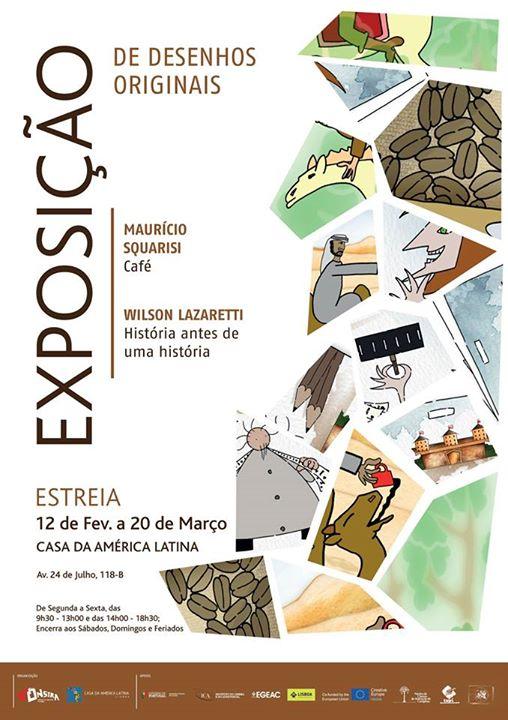 Exposição Desenhos originais dos Realizadores Wilson Lazaretti e Maurício Squarisi -  Casa América Latina - Festival Monstra
