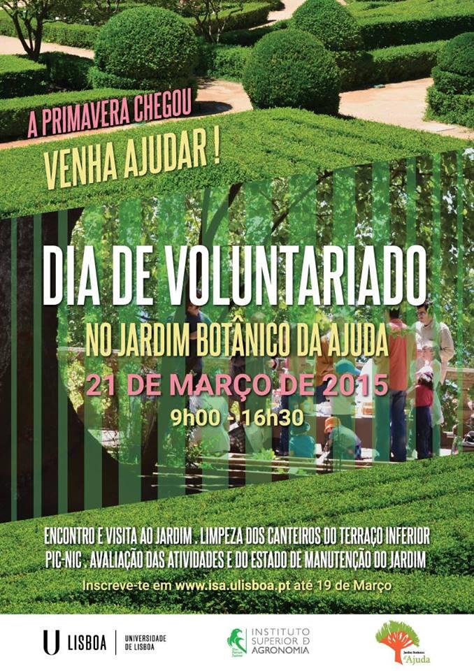 Dia do Voluntariado no Jardim Botânico da Ajuda