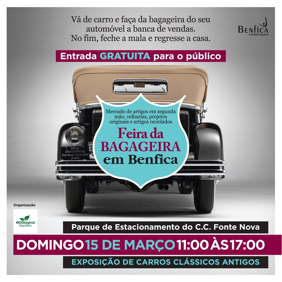 Feira da Bagageira de Benfica - 15 de Março