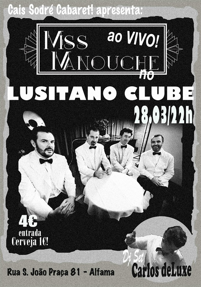 MISS MANOUCHE ao vivo @ LUSITANO CLUBE