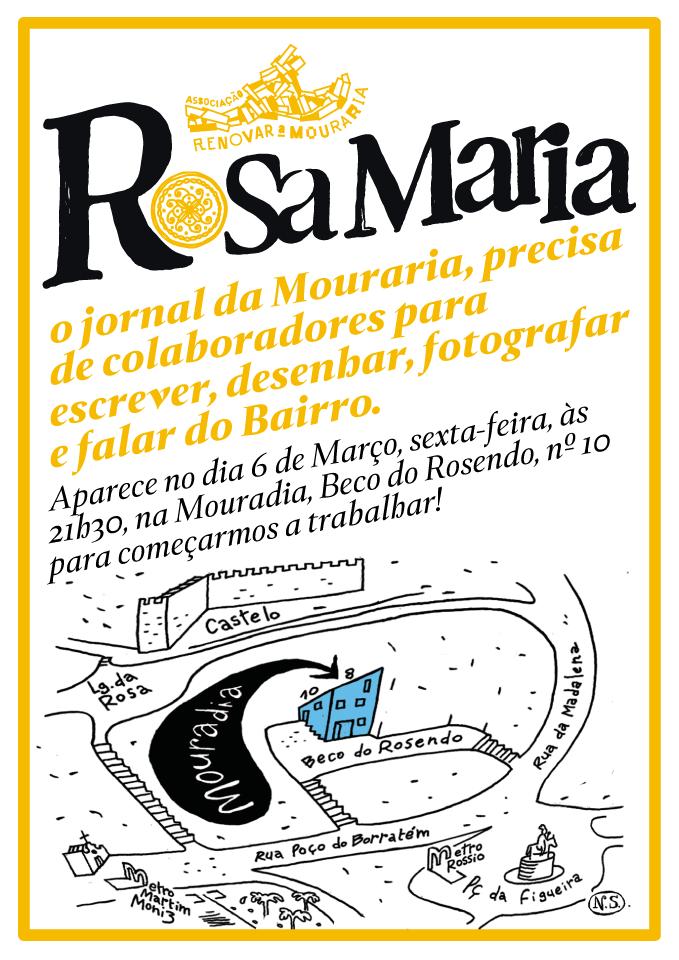 Rosa Maria procura colaboradores