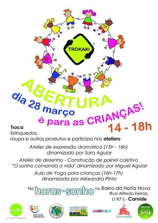 Trokaki para crianças - 28 de Março