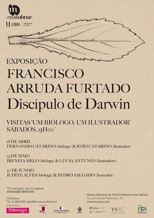 Visitas Um Biólogo, um ilustrador à exposição Francisco Arruda Furtado - Discípulo de Darwin