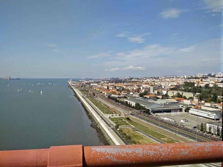 Vista para Belém - ponte 25 de Abril