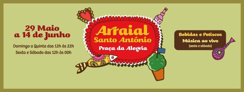 Arraial de Santo António - Praça da Alegria