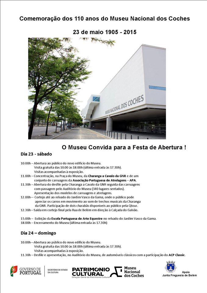 Comemoração dos 110 anos do Museu Nacional dos Coches - 23 de Maio