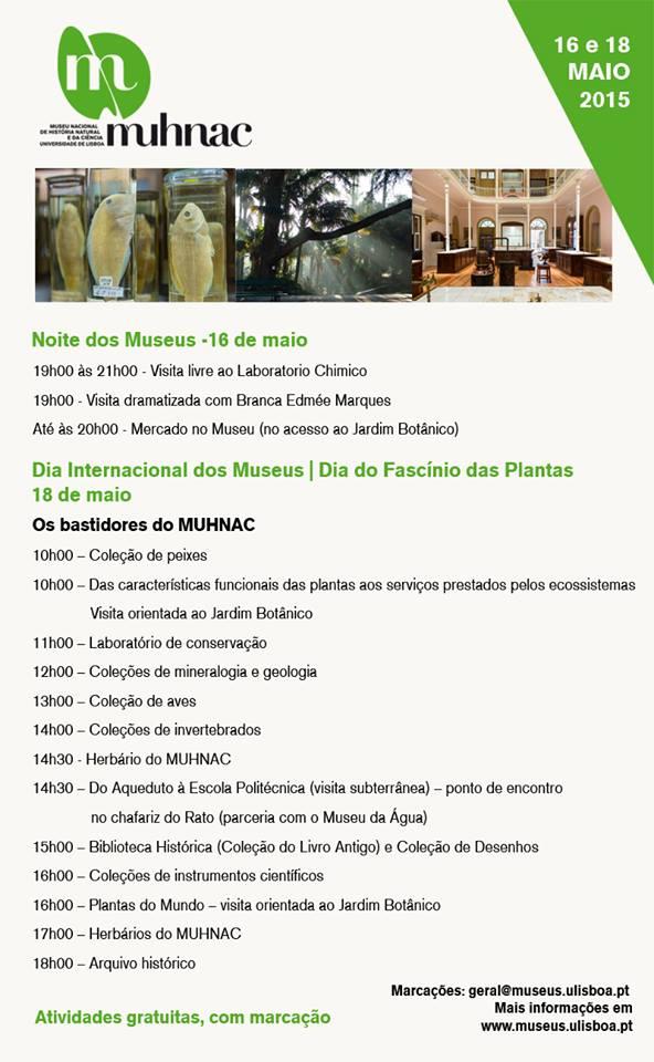 Noite dos Museus e Dia Internacional dos Museus - Museu Nacional de História Natural e da Ciência