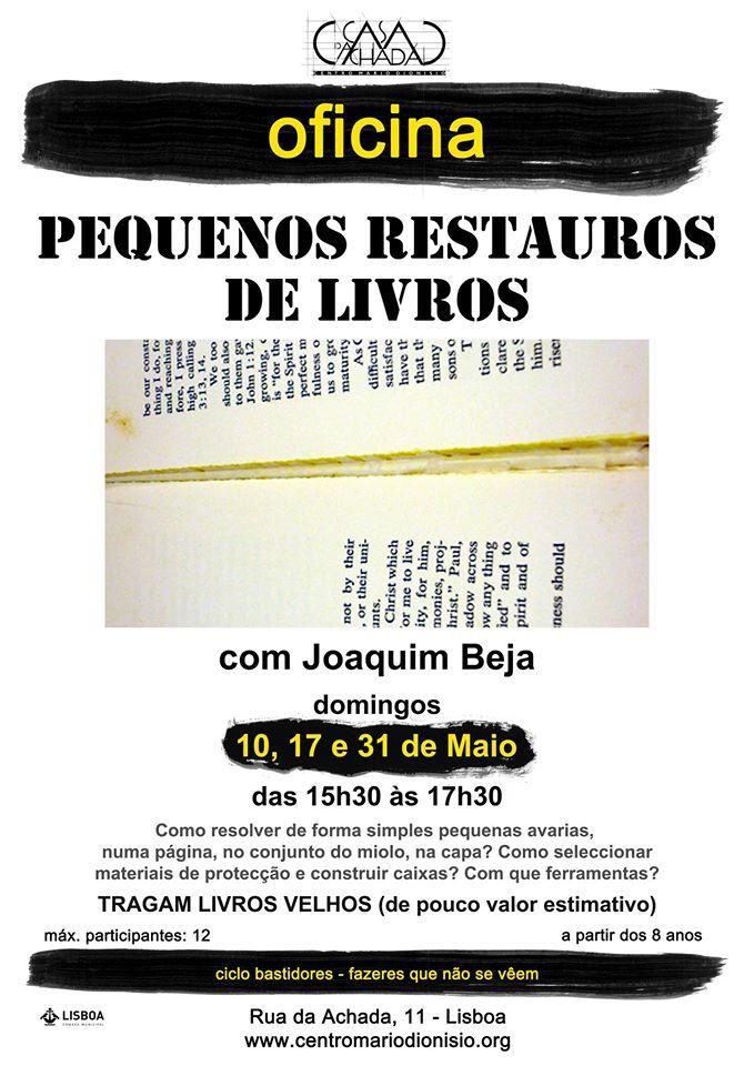 OFICINA Pequenos restauros de livros
