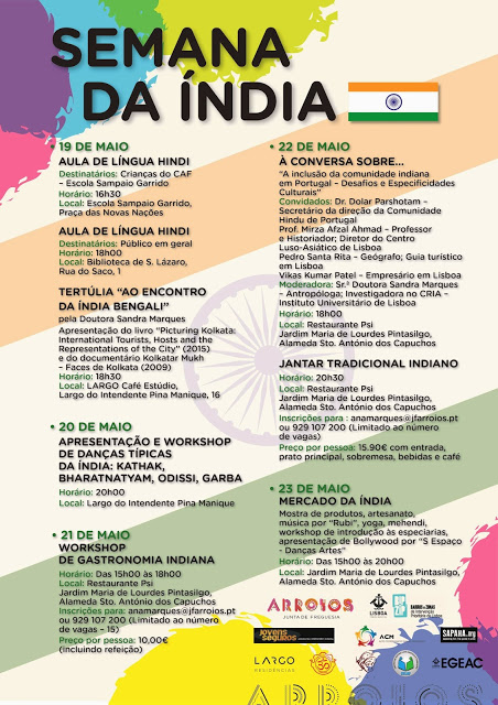 Semanda da Índia - 19 a 23 de Maio - Programa