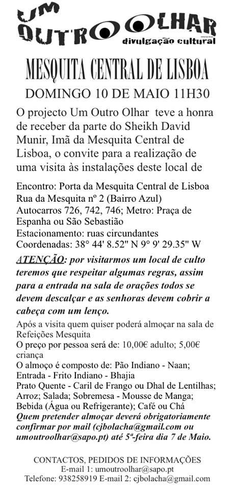 UM OUTRO OLHAR - Visita guiada à Mesquita Central de Lisboa