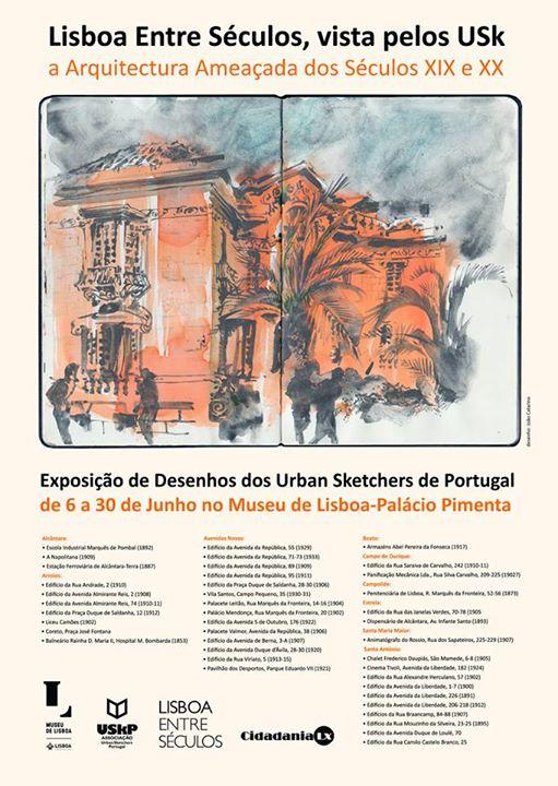 Arquitectura entre Séculos vista pelos Urban Sketchers