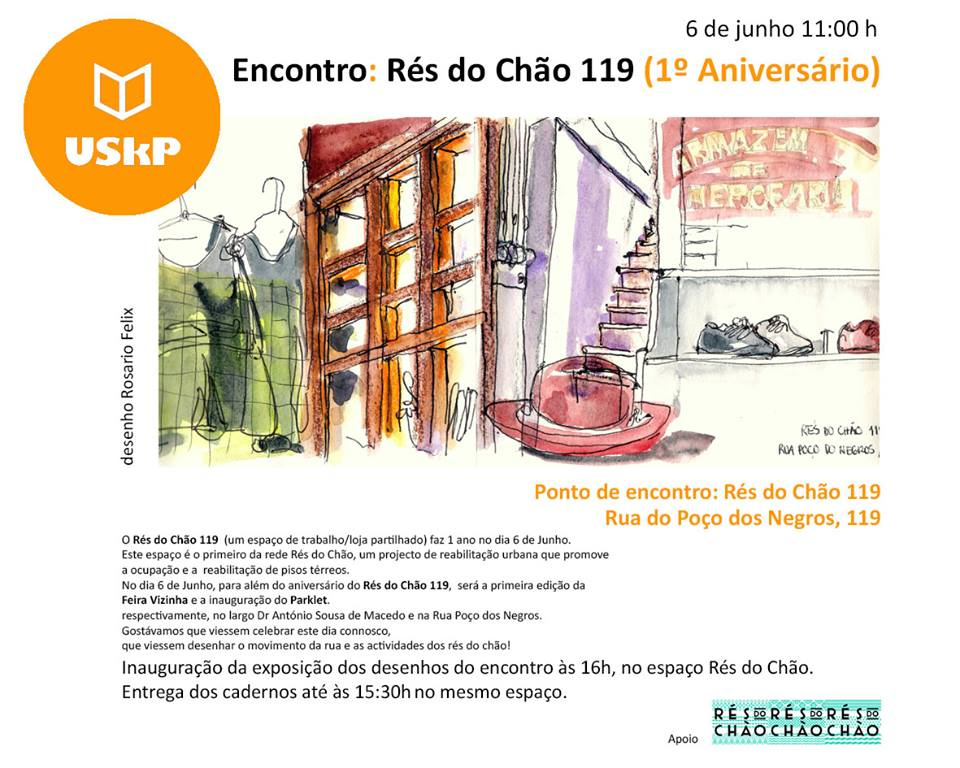 Encontro Urban Sketchers Portugal‎ - Rés do Chão