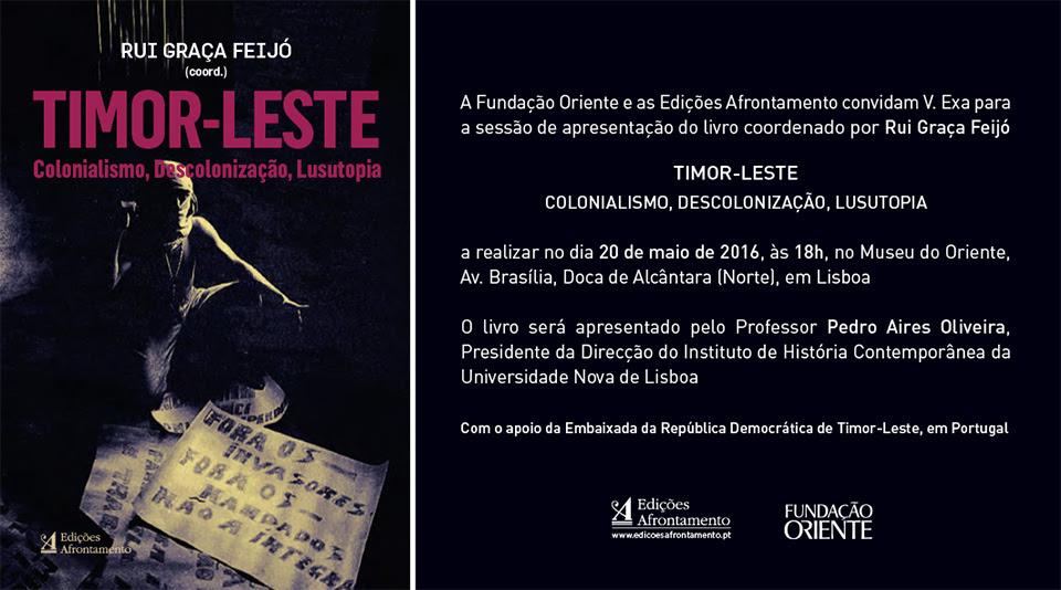 LANÇAMENTO-livro-TIMOR-LESTE-COLONIALISMO-DESCOLONIZAÇÃO-LUSUTOPIA
