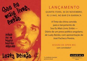 """Luaty Beirão estará em Lisboa a apresentar o seu livro """"Sou Eu Mais Livre, Então"""", resultado directo do diário que escreveu durante a sua greve de fome."""