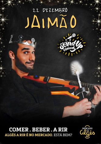Jaimão é um artista ecléctico, comediante e cantor badalhoco. Será também o anfitrião de uma das noites mais divertidas do Mercado de Algés!