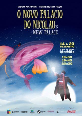 """""""O Novo Palácio do Nicolau"""" é videomapping projectado no Terreiro do Paço esta época natalícia. Um espectáculo ideal para miúdos e graúdos!"""