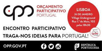 O Orçamento Participativo de Portugal chegou a Lisboa! Participa no encontro participativo e propõe a tua ideia na palete do Ignite. Só tens 5 minutos ;)