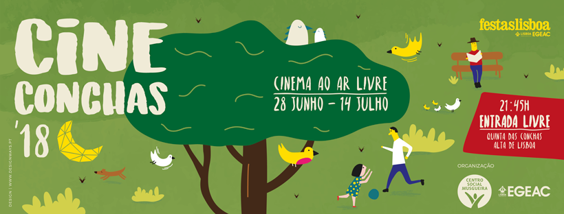 O CineConchas está de volta à Quinta das Conchas para mais 3 fins de semana cheios de cinema. Sabe tudo sobre os filmes a exibir já esta semana :)
