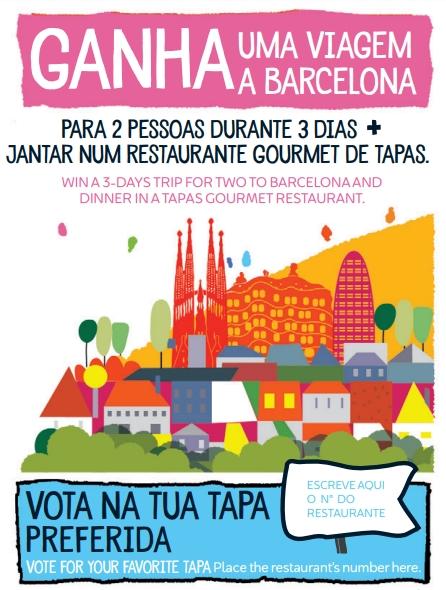 Participa no passatempo da Rota de Tapas e ganha uma viagem a Barcelona e um jantar num restaurante gourmet de tapas!