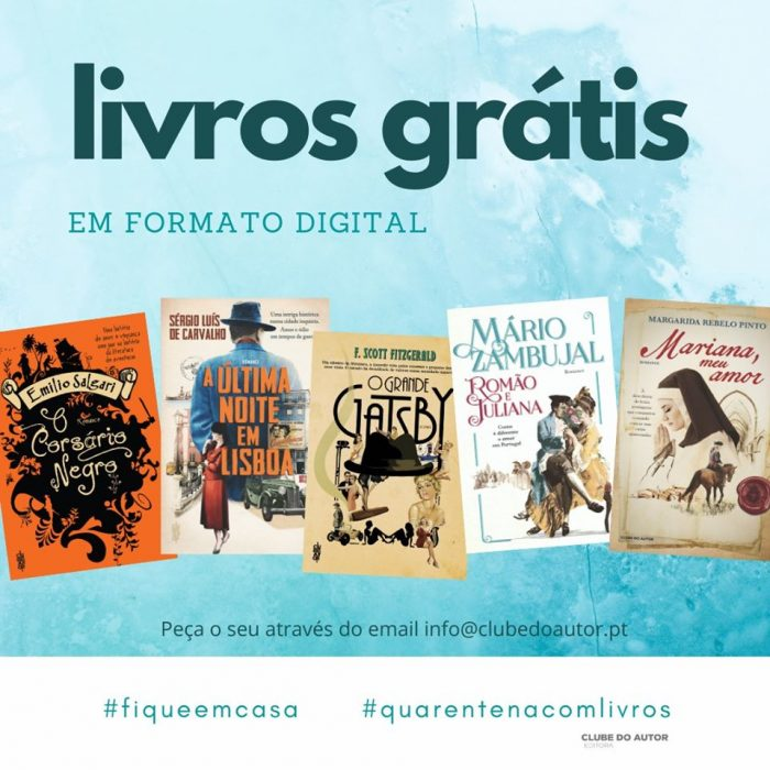 5 livros grátis oferecidos pela editora O Clube do Autor
