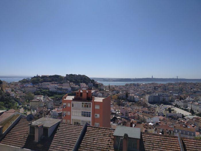 Vista do Miradouro de Nossa Senhora do Monte em Lisboa